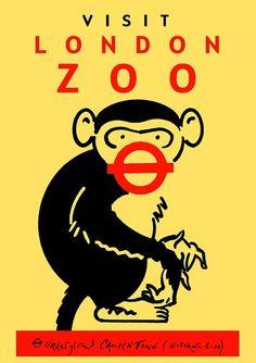 Visit London Zoo (via Underground Camden Town Northern Line)