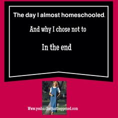 To homeschool or not to homeschool, that is the question