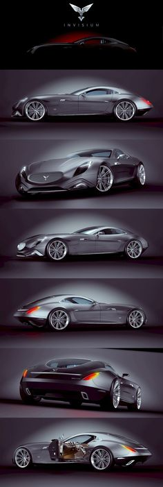 Invisium Concept Car ' Arrano by Paulo Czyżewski. Supercars, Cb 750 Cafe Racer, Design Autos, Design Cars, 2020 Design, Automobile, Futuristic Cars, Future Car, Sexy Cars