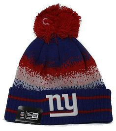 online store 1f1bb a586a 1 Adult New Era New York Giants Cuffed Spec Blend Sport Knit Pom Beanie Hat