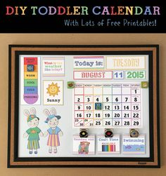 DIY Toddler Calendar with DIY magnets to help teach your toddler about the…