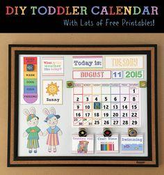 FREE Printable Interactive Preschool Calendar | Kids Math ...
