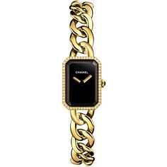 Chanel Premiere h3258 Watch ($14,099) ❤ liked on Polyvore featuring jewelry, watches, crown jewelry, polish jewelry, chanel, chanel jewelry and dial watches