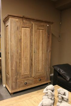 Teak kast 4 deurs recycled teak - Teak wardrobe 4  doors reclaimed teak