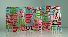 Ho Ho Ho Set of 5 w/ envelopes by 3xCreativeBs on Etsy