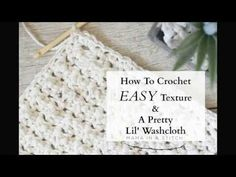 Hi! This video will show you how to crochet a simple and pretty texture which works beautifully for a washcloth! The stitch pattern is very easy to learn and...