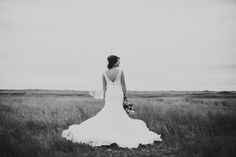 Bismarck,ND Wedding Photography - Bride, Dress, field