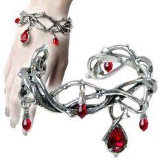   Passion Pewter Bangle Bracelet   Womens Alchemy Gothic Jewellery