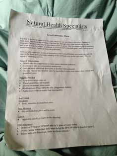 Liver cleanse pg 1 of 2