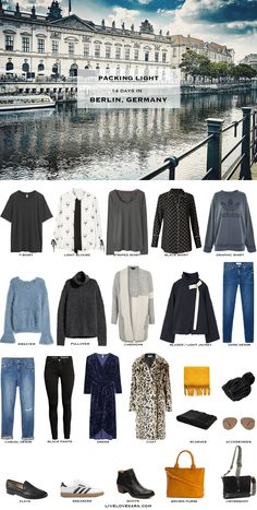 14 Days in Berlin, Germany. What to Pack for Packing Light List. Fall Travel Cap… 14 Days in Berlin, Germany. What to Pack for Packing Light List. Cardigan Blazer, Sweater Shirt, T Shirt, Capsule Wardrobe, Travel Wardrobe, Fall Packing, Packing Light, Travel Packing, Packing Ideas
