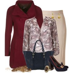 """""""Fall in the Office"""" by kginger on Polyvore"""