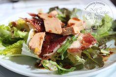Ensalada de jamón iberico y foie// iberian ham and foie salad receta//recipe: http://www.lagatacuriosa.com/2014/03/ensalada-con-jamon-y-foie.html