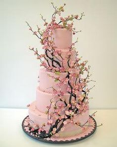 Cherry Blossom Wedding cake - this is beautiful. I would have loved a cake like this!  :)