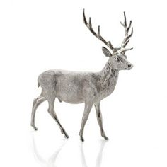 Frosted Silver Stag
