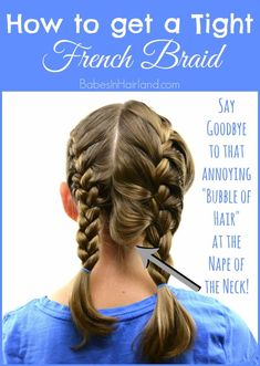 How to get a Tight French Braid If you struggle with getting a tight or tidy French braid, come watch our video. We're sharing a few pointers to help you improve your French braiding skills and achieve a nice tight French braid! Braiding Your Own Hair, Your Hair, How To Braid Hair, How To Braid Your Own Hair Short, How To Style Braids, Buns For Long Hair, Tight Braids, Braids Easy, Short Hair Braids Tutorial