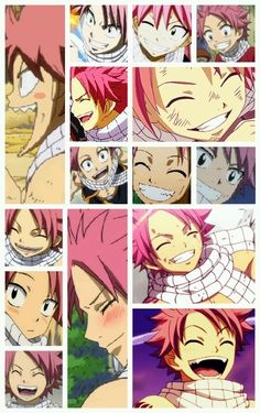 "Natsu's smiles.. I've fallen in love! :3 (not to mention I just found out that his name means ""Summer"" XD omg! it fits him perfectly!!!)"