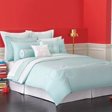 Definitely buying this! Next paycheck, revamping the bedroom! Kate Spade Whisper Whirl King Duvet Cover