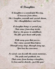 Mom Quotes From Daughter, Letter To My Daughter, I Love My Daughter, Poems For Daughters, Mother Daughter Poems, Teenage Daughters, Happy Mothers Day Daughter, Daddy Daughter, Mom Birthday Quotes