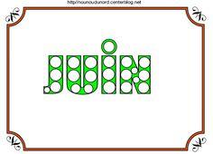 🐞🌞🌺Mois de JUIN à colorier à gommettes,en couleur et coller les gommettes ou dessiner autour du mot JUIN cliquez sur mon lien http://nounoudunord.centerblog.net/4681-mois-de-juin-a-colorier-a-gommettes-et-en-couleur