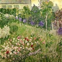 Framed Daubigny's garden, 1890 Vincent Van Gogh, Art Van, Canvas Artwork, Wall Canvas, Wall Art, Van Gogh Arte, Van Gogh Museum, Van Gogh Paintings, Garden Painting