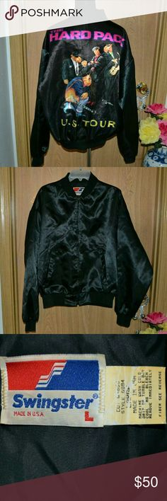 Rare vintage joe camel cigarettes the hard pack US SMOKE FREE HOME! Buy 3 get one free!  NO HOLDS OR TRADES!! Rare , vintage black joe camel satin light weight bomber jacket size large made in USA by the brand swingster. In excellent condition. Has two slash pockets on the front & a full color graphic on the back . Style 6984. Materials 100% Nylon. Joe Camel Jackets & Coats Bomber & Varsity