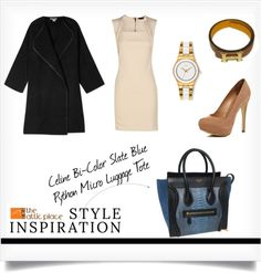 """""""::Style Inspiration- Celine Bi-Color Slate Blue Python Micro Luggage Tote::"""" by the-attic-place on Polyvore"""