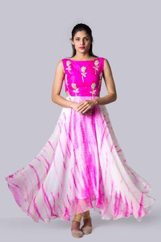 SC-S820: Pink and white cut out dress!!!We can customize the colour   size as per your requirement.To order  WhatsApp on 9949944178 or mail us @issadesignerstudio@gmail.com  02 March 2017