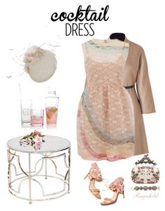 """Cocktail Dress"" by ragnh-mjos ❤ liked on Polyvore featuring Fendi, Mark & Graham, RED Valentino, Rupert Sanderson, Alexander McQueen, Oscar de la Renta, contest, outfit and cocktaildress"