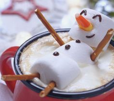 Hot Chocolate w/Melted Snowman (photo by Azurita on Getty Images)