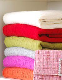 Storage Tips   Organize Winter Gear Via WomansDay.com #storage #cashmere  #seasonal