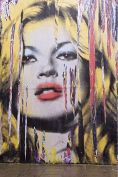 Kate Moss Mr Brainwash Graffiti Mural Art In London
