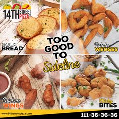 TOO GOOD TO SIDELINE! :)  #14thStreetPizza #OriginallyYours #NewLook #Sideline  Call Now 111-36-36-36 or Visit www.14thstreetpizza.com