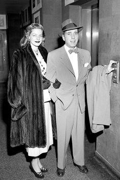Lauren Bacall & Humphrey Bogart, 1949.