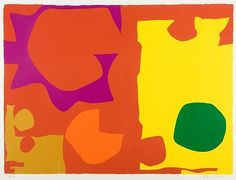 Patrick Heron, Six vermillion with green in yellow