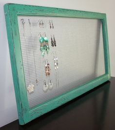 Vintage Screen Repurposed into Jewelry Hanger  by alove4vintage, $40.00