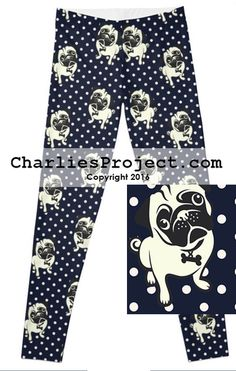 3c73a52574172 Polka Dot Pugs - Final Sale. No Returns. - Charlies Project - Leggings for  a Cause