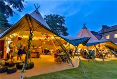 Mr & Mrs Unique :: World Inspired Tents :: We hire beautiful and extraordinary Giant Nordic tipis for weddings, parties, festivals, corporate functions or just about any event, where people are looking for a visually stunning alternative. Tipi Wedding, Marquee Wedding, Woodland Wedding, Wedding Venues, Marquee Hire, Wedding Set, Wedding Reception, Nordic Wedding, Viking Wedding