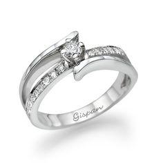 Engagement Ring White Gold Set With Diamonds14k by gispandiamonds