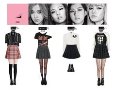 BLACK PINK - BOOMBAYAH♡️ by vvvan99 on Polyvore featuring polyvore fashion style Undercover Miu Miu House of Holland Pretty Polly Dr. Martens Jeffrey Campbell Dolce&Gabbana Poporcelain Fannie Schiavoni Gucci French Toast clothing