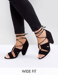 ASOS | ASOS TALI Wide Fit Lace Up Heeled Sandals