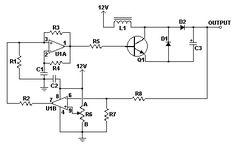 Circuito Conversor DC/DC 12V para 24V