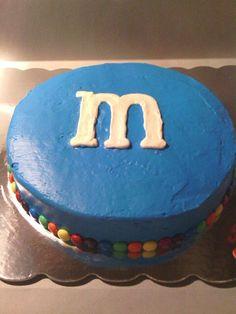 Marsha's M&M cake
