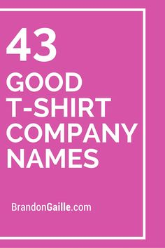 53 Good Ideas for Graphic Design Company Names