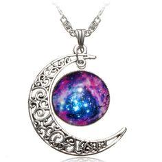 Moda-Mujer-Collar-Gargantilla-Cadena-Colgante-Hueco-Estrella-Cristal-Necklace