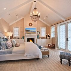 Cathedral Ceiling Bedroom Design Ideas, Pictures, Remodel and Decor