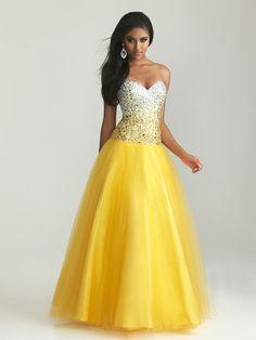 Gold Corset Evening Dresses