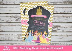 Disney Princess Invitation Princess Princess by DebsPrintables