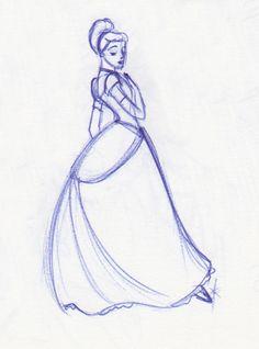 Cinderella Gesture by ~kuabci on deviantART Real Disney Princesses, Disney Princess Art, Disney Art, Disney Pixar, Disney Characters, Rose Doodle, Disney Drawings, Character Concept, Cinderella