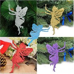Bargain World Glitter Angel Christmas Pendant Ornament Festival Party Christmas Tree Hanging Decor >>> This is an Amazon Affiliate link. See this great product.