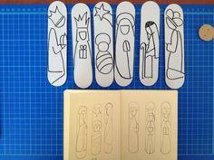 Il presepe realizzato con cartoncini di recupero #o2italia http://usaprima.blogspot.it/#!/2012/11/il-presepe-di-carta-e-di-cartone.html